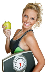 fat loss lady scale apple